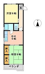 亀島マンション(井深町)[3階]の間取り
