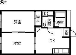 KIRAKUハイツ宮路[205号室]の間取り