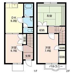 [テラスハウス] 神奈川県大和市つきみ野4丁目 の賃貸【/】の間取り