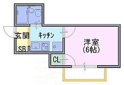 シーホースマンション[1階]の間取り