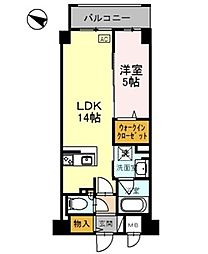 兵庫県神戸市東灘区住吉本町1丁目の賃貸マンションの間取り