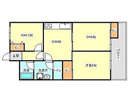 兵庫県神戸市垂水区千代が丘2丁目の賃貸マンションの間取り