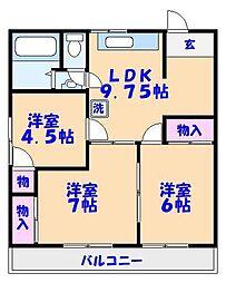堀木マンション[106号室]の間取り