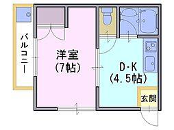 クレアトール21[2階]の間取り