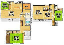 [一戸建] 兵庫県川西市緑台6丁目 の賃貸【/】の間取り