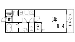 兵庫県神戸市灘区篠原中町3丁目の賃貸マンションの間取り