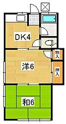 一寸木アパート[102号室号室]の間取り