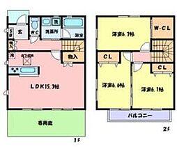 兵庫県姫路市鷹匠町の賃貸アパートの間取り