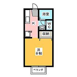 フローラル・コート[2階]の間取り
