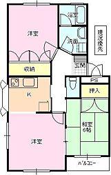 長野県長野市大字小島の賃貸マンションの間取り