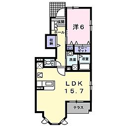 DESPACIO K[1階]の間取り