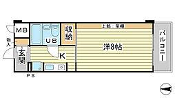 O−6マンション(学生)[403号室]の間取り