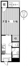 ザ・ヒーロー[4階]の間取り