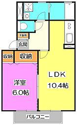 東京都練馬区大泉学園町1丁目の賃貸アパートの間取り