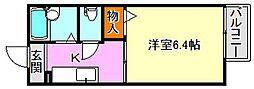 ディアス奥須磨[2階]の間取り