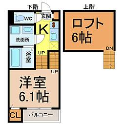 中村ミッドタワー31F[102号室]の間取り
