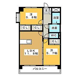 プリリアンスTAKEKOSHI[2階]の間取り