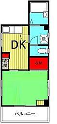 慶ハイム[1階]の間取り