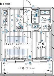 新築 レガリス新宿落合[402号室号室]の間取り