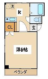 東京都葛飾区新小岩3丁目の賃貸マンションの間取り