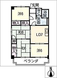 メイゾンサンポア B棟[2階]の間取り