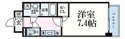 ワールドアイ神戸ハーバーランド 7階1Kの間取り