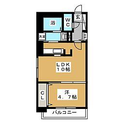 ブランノワールN13.exe[5階]の間取り