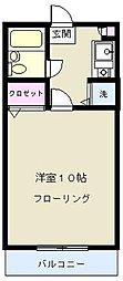 東京都世田谷区深沢1丁目の賃貸アパートの間取り
