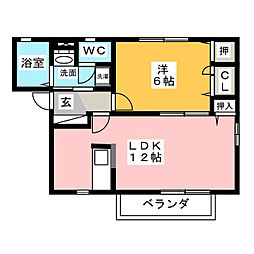 Aqua Court (アクア コート)[2階]の間取り