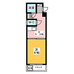 第1ロジィングス天野屋[4階]の間取り