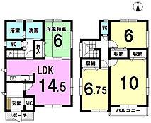 主寝室10帖各居室収納あり