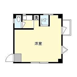 横山ビル中野島[201号室]の間取り