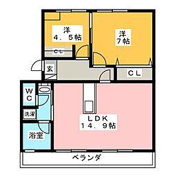 マンションATAGO[3階]の間取り