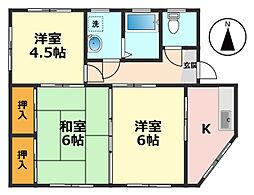 東京都葛飾区奥戸6丁目の賃貸マンションの間取り