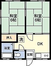 コーポ正司[2階]の間取り