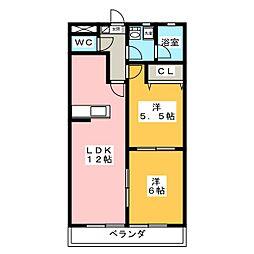 ぐりーんぷらざ[1階]の間取り