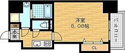 Osaka Metro谷町線 千林大宮駅 徒歩4分の賃貸マンション 6階1Kの間取り