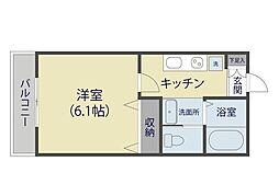 MARK DUO 塚越 Ⅱ[1階]の間取り