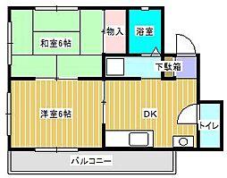 クレインハウス[3階]の間取り