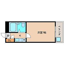 奈良県奈良市三松1丁目の賃貸マンションの間取り