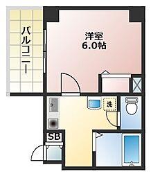 大阪府大阪市西区西本町2丁目の賃貸マンションの間取り