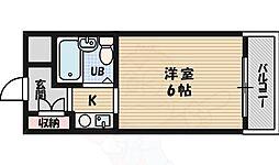 北大阪急行電鉄 緑地公園駅 徒歩12分の賃貸マンション 3階1Kの間取り