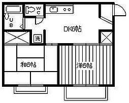 エムハイツ鈴谷II[1階]の間取り