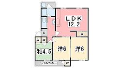 京口団地[2階]の間取り