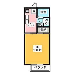 ノンニーノ[1階]の間取り