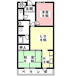 コーポFUKUSIMA[502号室]の間取り