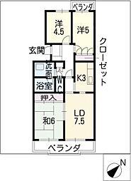 KOZAN SOPHIA[5階]の間取り