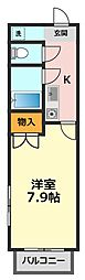 東京都葛飾区新小岩1丁目の賃貸マンションの間取り