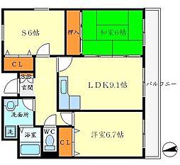 アンソレイユK[3階]の間取り