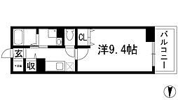 兵庫県川西市久代1丁目の賃貸マンションの間取り